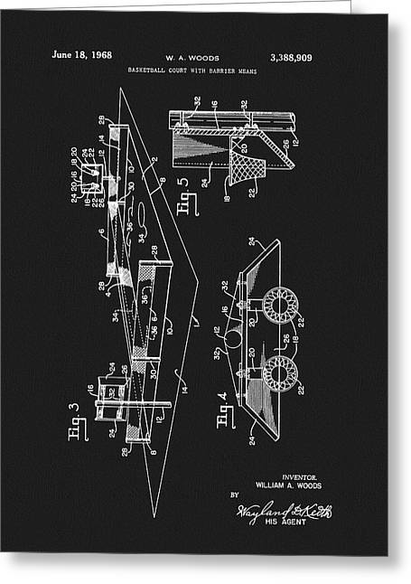 1968 Basketball Court Patent Greeting Card