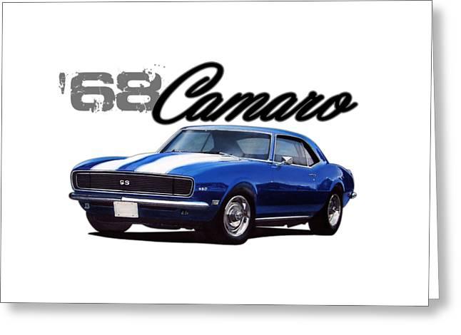 1968 Camaro Greeting Card by Paul Kuras