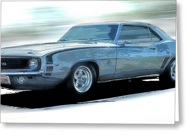 1968 Camero Ss Speed Greeting Card by Larry Helms