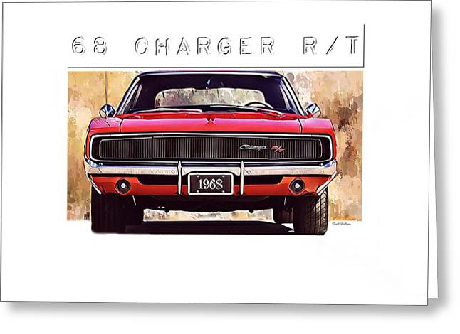1968 Charger Rt Greeting Card by Scott Wallace