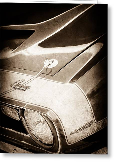 1968 Chevrolet Yenko Super Camaro Emblem -0653s Greeting Card by Jill Reger