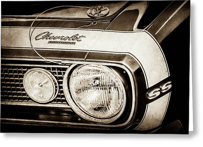 1968 Chevrolet Yenko Super Camaro Hood Emblem -1785s Greeting Card by Jill Reger