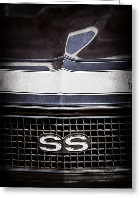 1968 Chevrolet Yenko Super Camaro Ss Grille Emblem -1745ac Greeting Card by Jill Reger