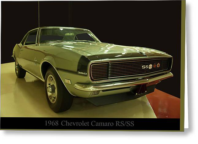 1968 Chevy Camaro Rs-ss Greeting Card
