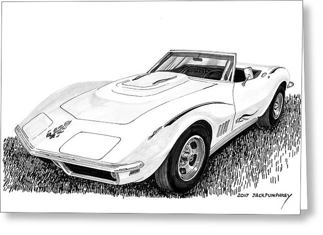 1968 Corvette Greeting Card by Jack Pumphrey