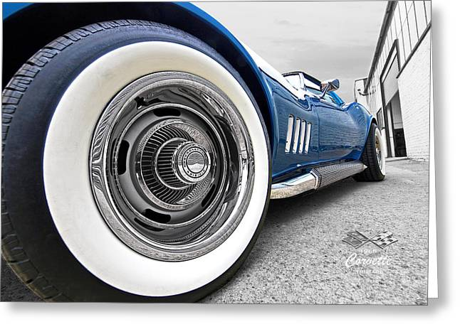 1968 Corvette White Wall Tires Greeting Card by Gill Billington