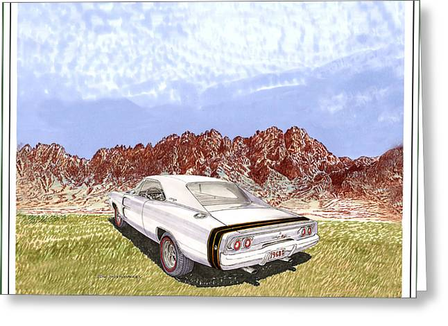 1968 Dodge Charger R T Greeting Card by Jack Pumphrey
