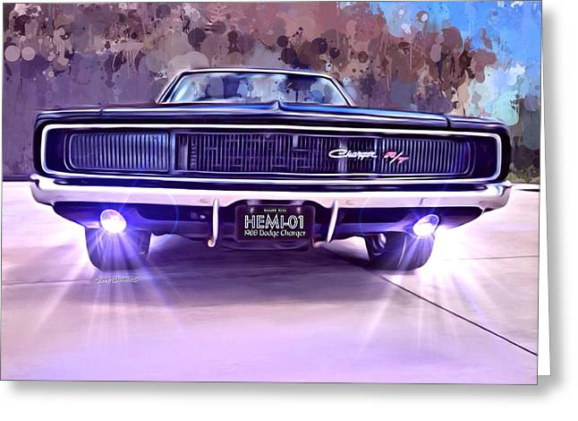 1968 Dodge Charger Greeting Card by Scott Wallace