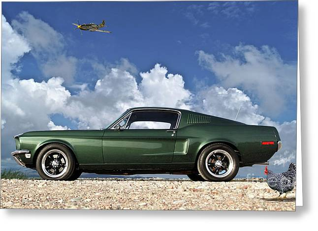 1968 Ford Bullitt Mustang Gt 390 Fastback, Steve Mcqueen Greeting Card by Thomas Pollart