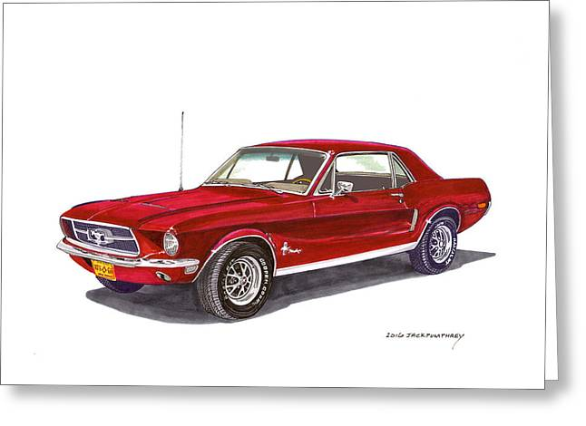 1968 Ford Mustang Coupe Greeting Card by Jack Pumphrey