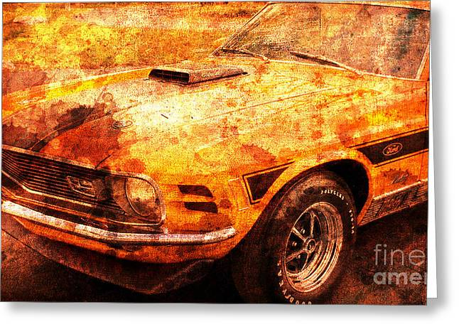 1968 Ford Mustang Gt, Valentine Gift For Men Greeting Card by Pablo Franchi