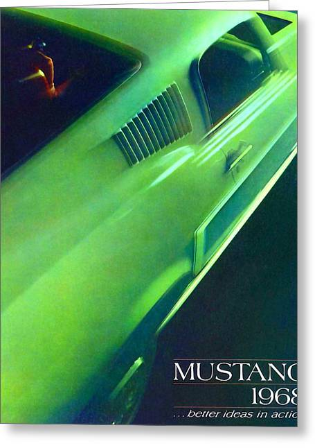 1968 Ford Mustang Greeting Card