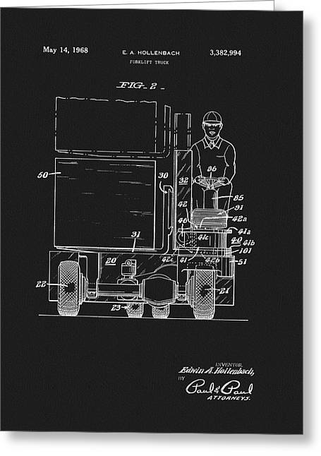 1968 Forklift Patent Greeting Card by Dan Sproul