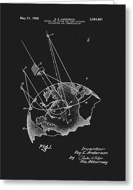 1968 Satellite Communication Patent Greeting Card