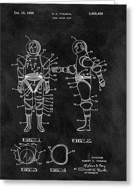 1968 Space Suit Greeting Card by Dan Sproul