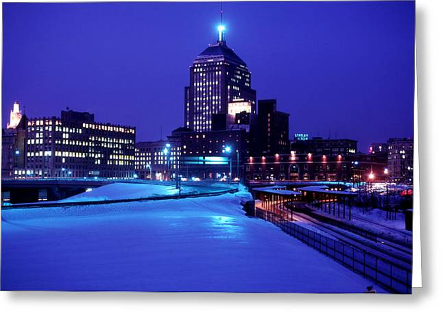 Greeting Card featuring the photograph  1969 Boston Twilight by Historic Image