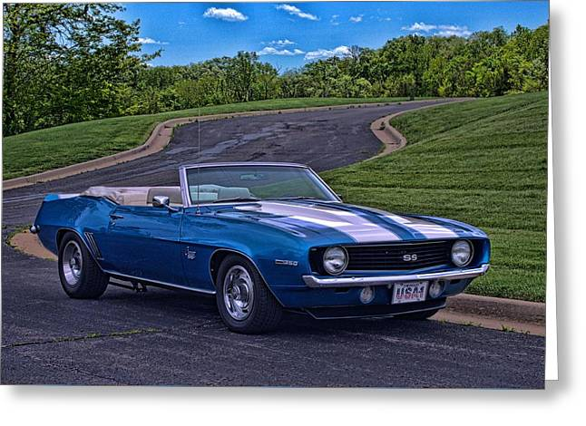 Greeting Card featuring the photograph 1969 Camaro Ss Convertible by Tim McCullough
