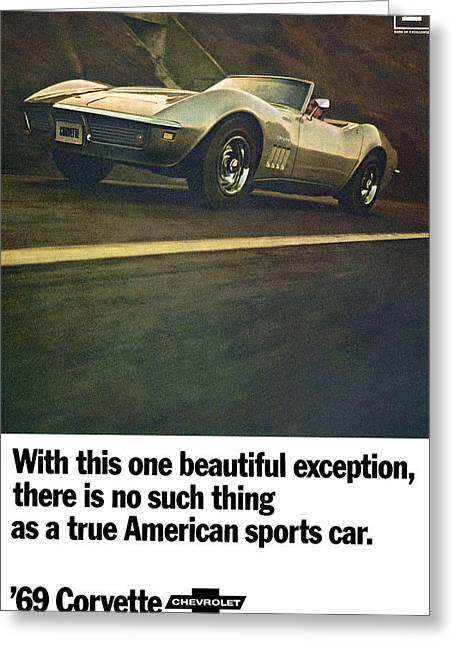 1969 Chevrolet Corvette Greeting Card by Digital Repro Depot