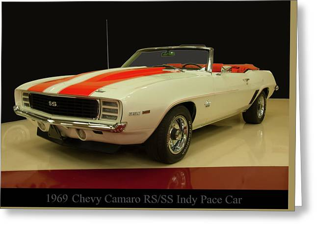 1969 Chevy Camaro Rs/ss Indy Pace Car Greeting Card