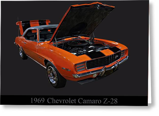 1969 Chevy Camaro Z28 Greeting Card