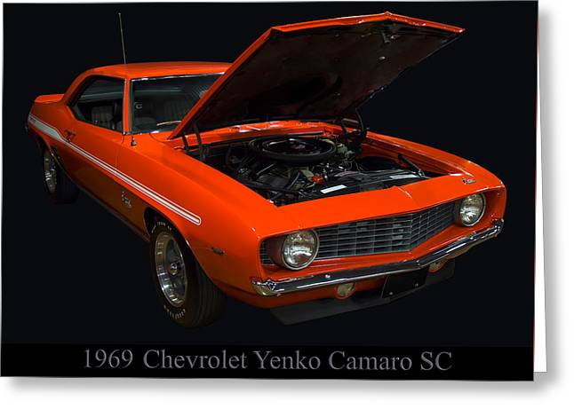 1960s Poster Art Greeting Cards - 1969 Chevy Yenko Camaro SC Greeting Card by Chris Flees