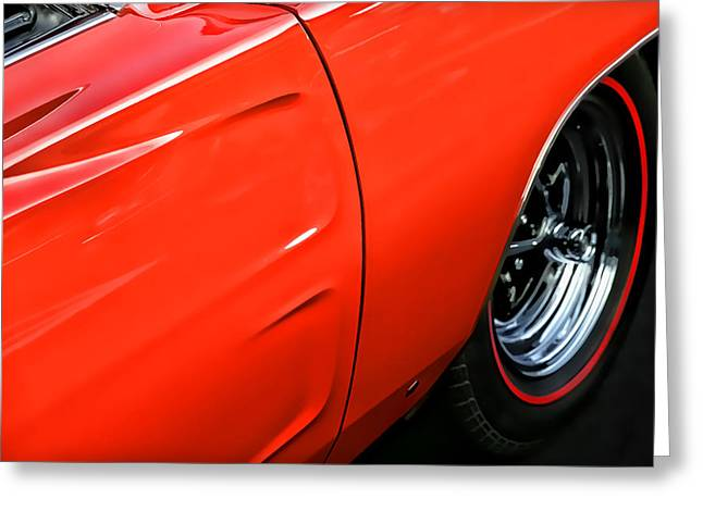 1969 Dodge Charger Stock Car Greeting Cards - 1969 Dodge Charger RT Greeting Card by Gordon Dean II