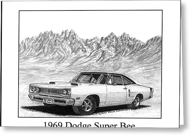 1969 Dodge Super Bee Greeting Card