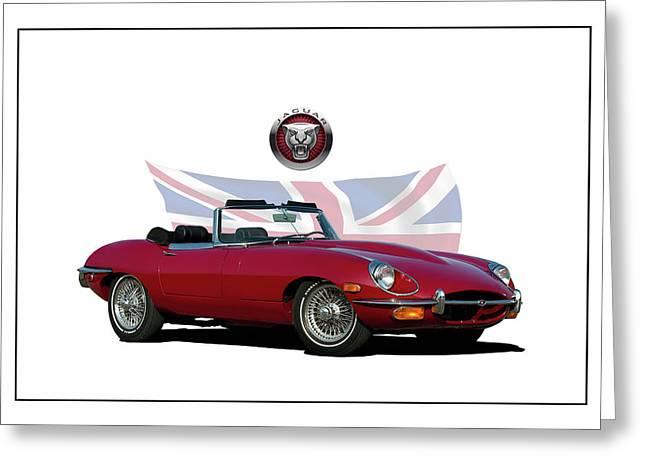 1969 E-type Jaguar Greeting Card