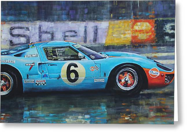 1969 Le Mans 24 Ford Gt40 Jacky Ickx Jackie Oliver Winner Greeting Card by Yuriy Shevchuk