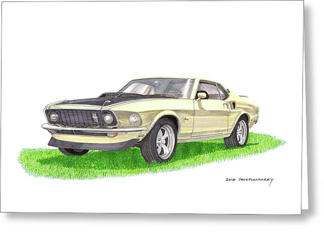 1969 Mustang Fastback Greeting Card by Jack Pumphrey