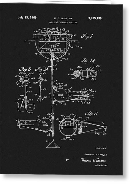 1969 Nautical Weather Station Patent Greeting Card