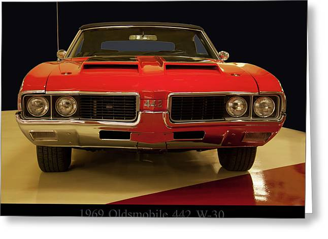 Greeting Card featuring the photograph 1969 Oldsmobile 442 W-30 by Chris Flees