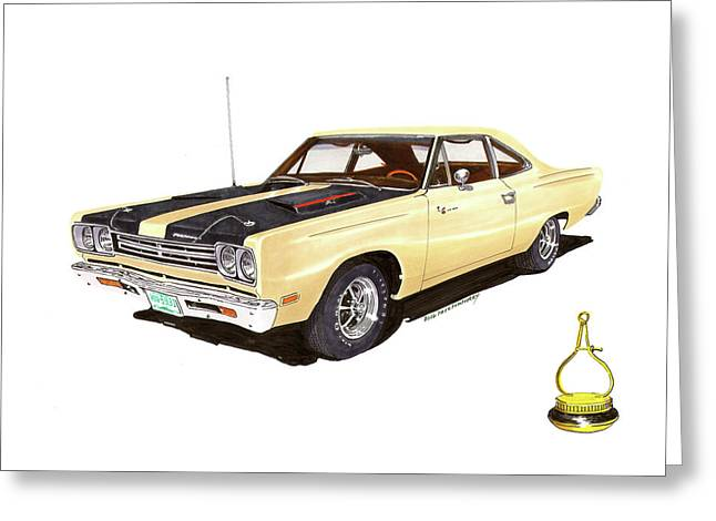 1969 Plymouth Road Runner 383 Greeting Card by Jack Pumphrey
