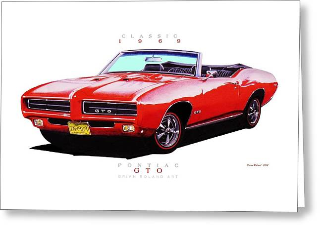 1969 Pontiac Gto Convertible Greeting Card by Brian Roland