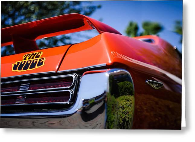 1969 Pontiac Gto Judge Taillight Emblem -0285c Greeting Card by Jill Reger