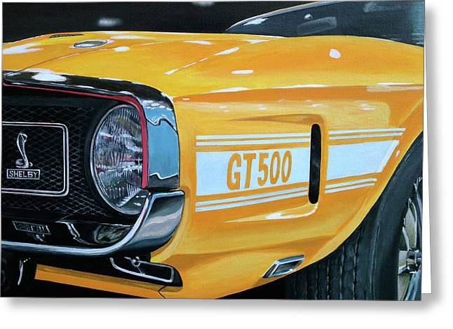 1969 Shelby Gt500 Greeting Card by Branden Hochstetler