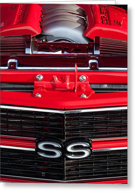 1970 Chevrolet Chevelle Ss Grille Emblem - Engine -0171c Greeting Card by Jill Reger