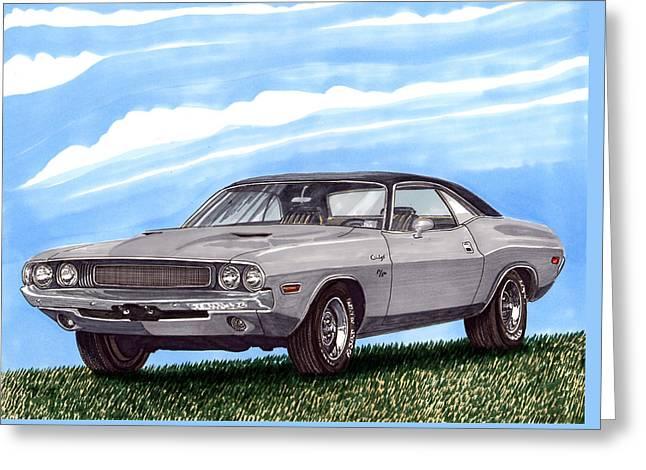 1970 Dodge Challenger Greeting Card by Jack Pumphrey