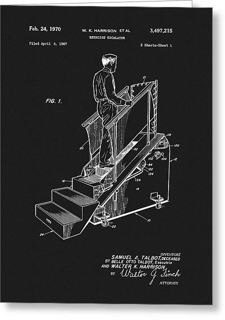 1970 Exercise Machine Patent Greeting Card