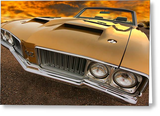 Drag-race Greeting Cards - 1970 Oldsmobile 442 W-30 Greeting Card by Gordon Dean II