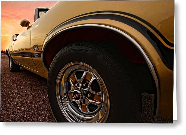 Black Top Greeting Cards - 1970 Oldsmobile Cutlass 4-4-2 W-30  Greeting Card by Gordon Dean II