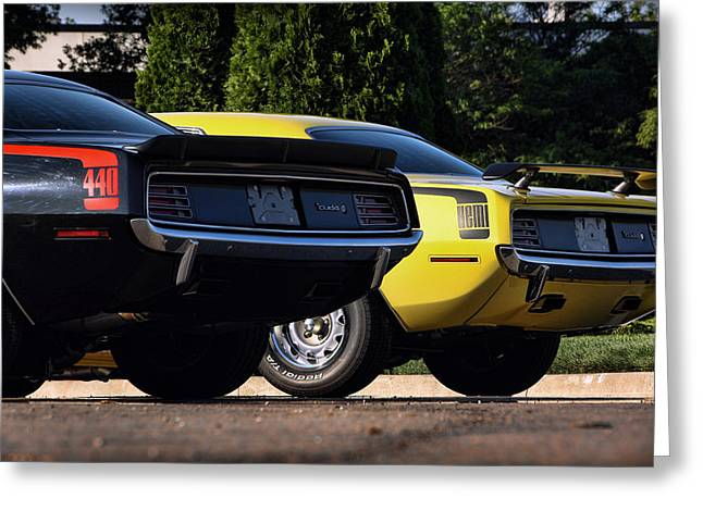 1970 Plymouth 'cuda 440 And Hemi Greeting Card