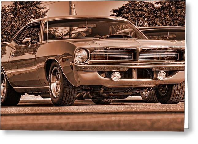 1970 Plymouth Hemi 'cuda Greeting Card