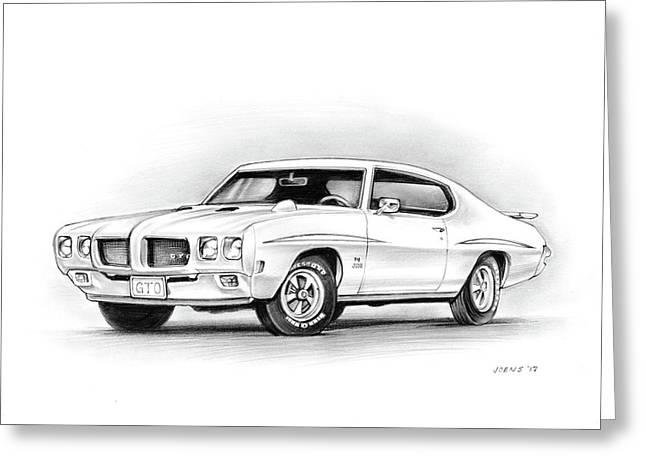 1970 Pontiac Gto Judge Greeting Card
