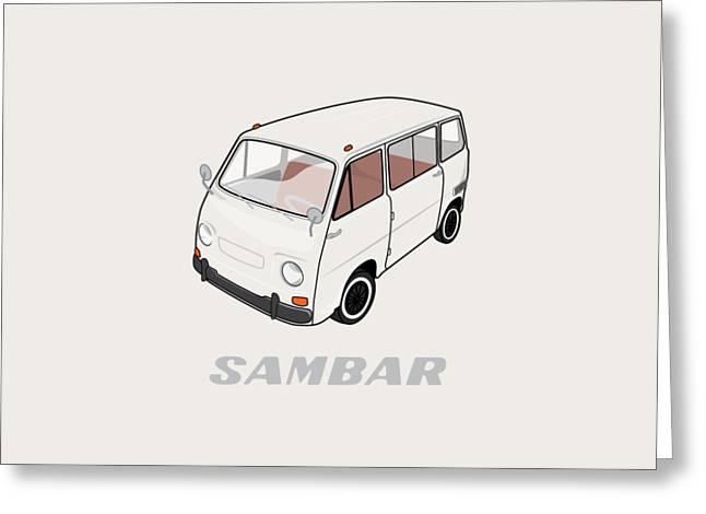 1970 Subaru Sambar Van Greeting Card
