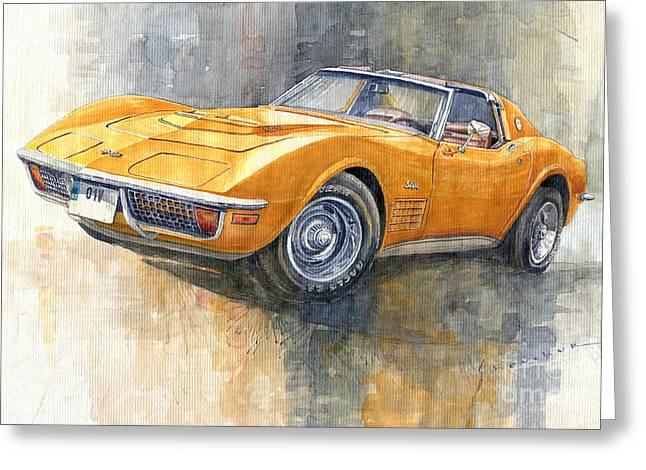 1971 Chevrolet Corvette Lt1 Coupe Greeting Card