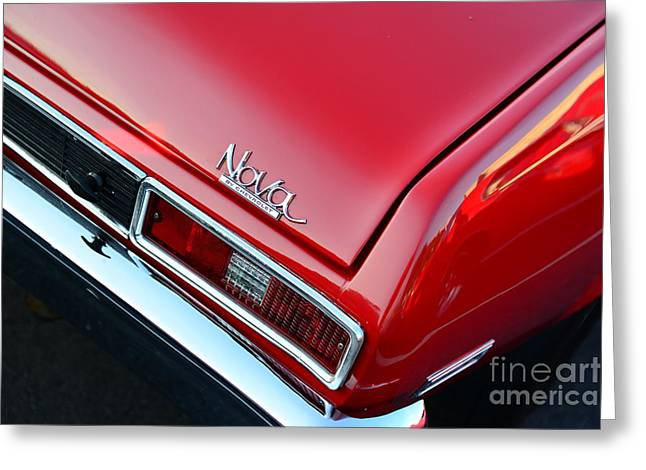 1971 Chevy Nova - Red Greeting Card by Paul Ward