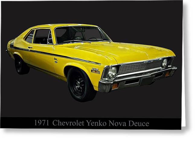1971 Chevy Nova Yenko Deuce Greeting Card by Chris Flees