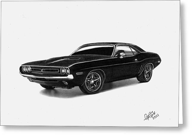 1971 Dodge Challenger Greeting Card