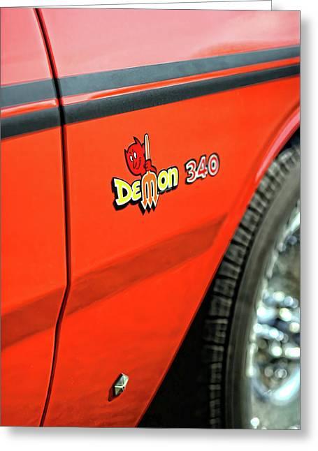 1971 Dodge Demon - Hemi Orange Greeting Card by Gordon Dean II